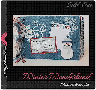 winter wonderland scrapbook mini album kit artsy albums