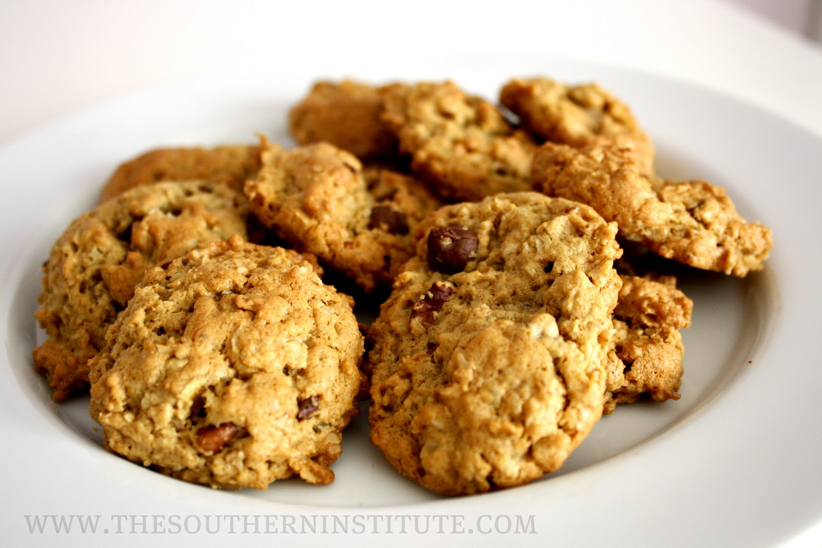 Peanut Butter-Chocolate Chip Oatmeal Cookies Recipe — Dishmaps