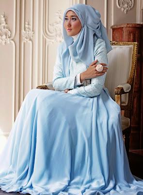 gambar baju muslim sifon polos