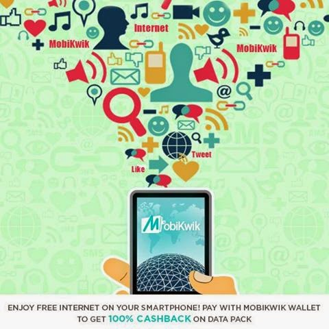 Mobikwik 100% Cashback on 2g, 3g Internet for Airtel, Vodafone, Idea, Reliance Users ( Mumbai only )