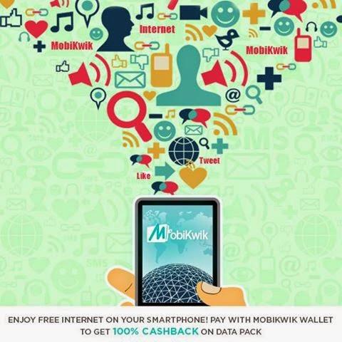 Mobikwik 100% Cashback on 2g, 3g Internet for Airtel, Vodafone, Idea, Reliance Users ( Mumbai only )