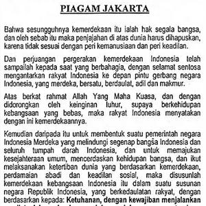 18 Agustus 1945, Dihapusnya Syariat Islam dalam Piagam Jakarta - BOS
