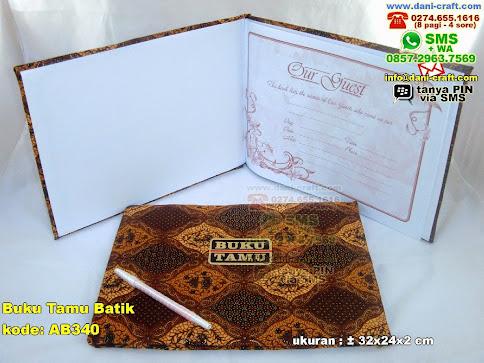 Buku Tamu Batik