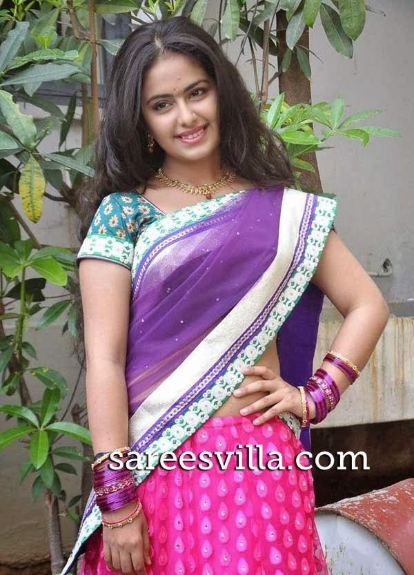 Avika Gor In Designer Half Saree