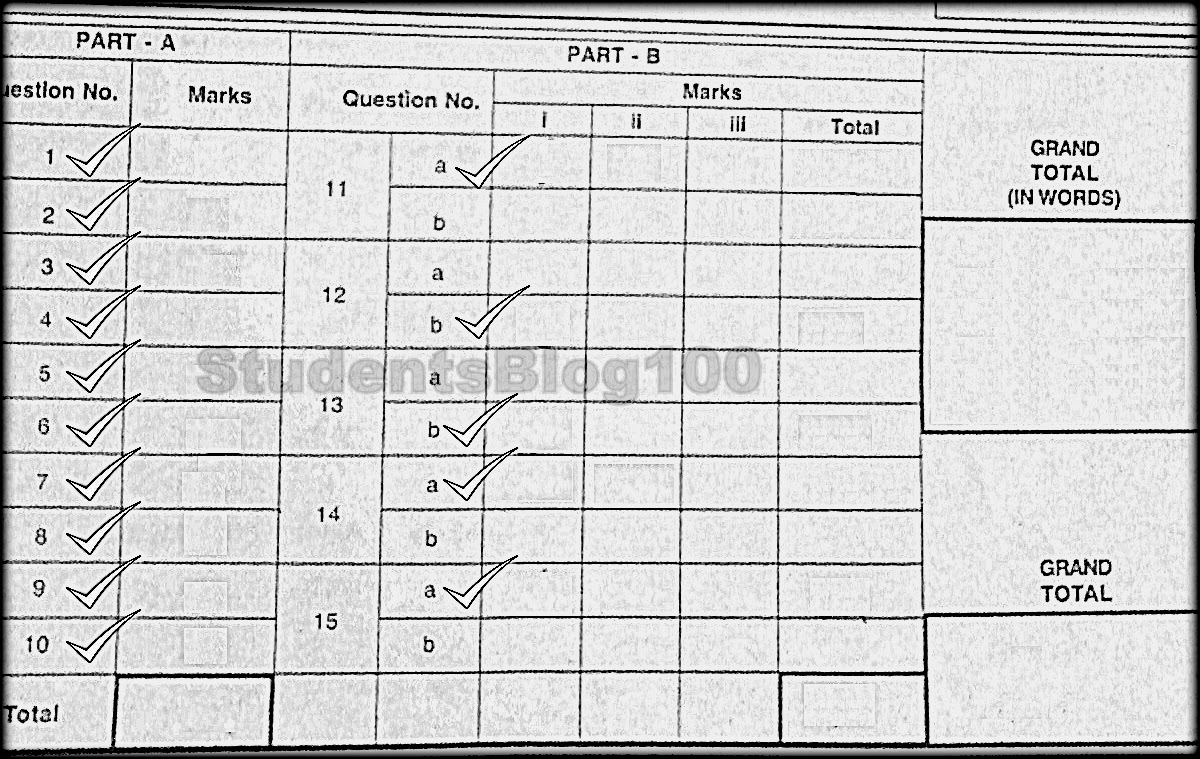 Anna University sample answer script that followed new procedure