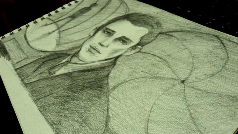 Dibujo a lápiz de la película Gattaca