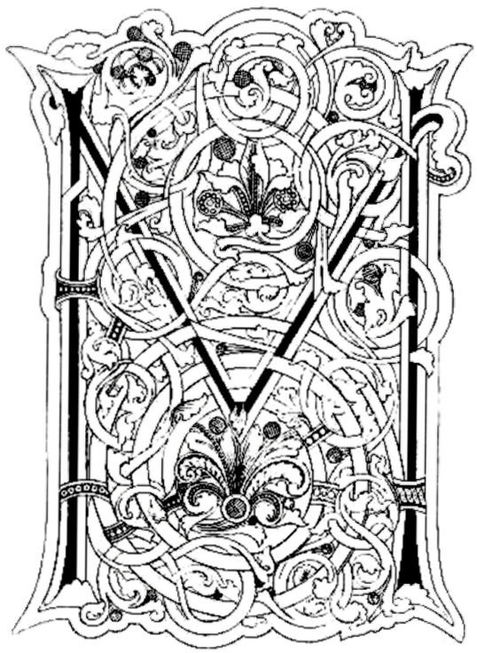 illuminated alphabet coloring pages free - photo#13