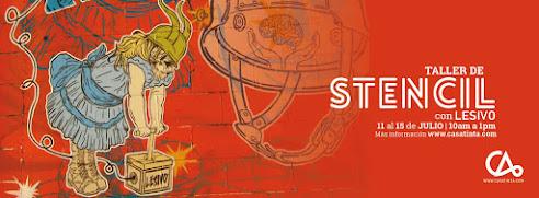 STENCIL y STREET ART con Lesivo - 11 de julio