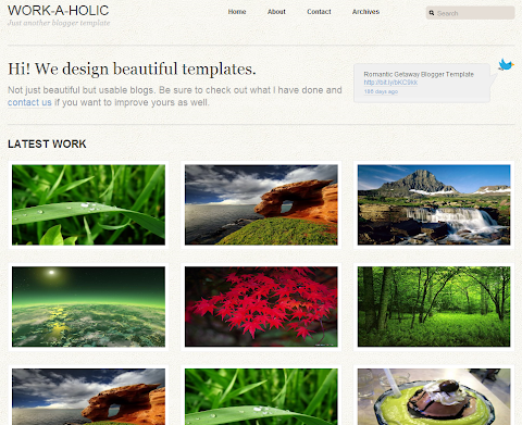 Work a Holic Blogger Theme