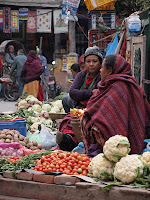 Vegetable sellers Thamel market