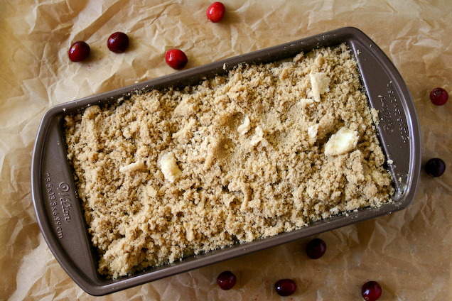 White Chocolate Cranberry Banana Streusel Bread.