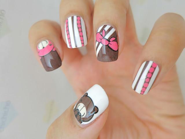 Дизайн ногтей мишка фото