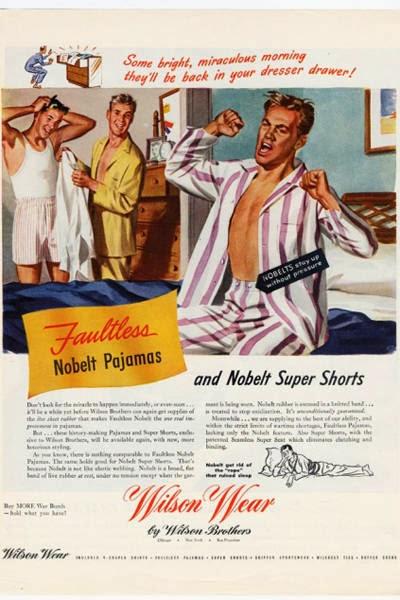 Propaganda homossexual dos Pijamas Wilson Wear, em 1945