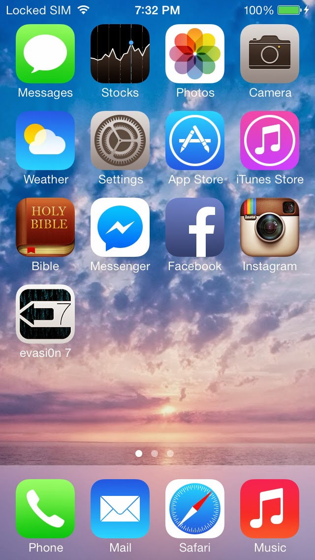 ... see a message on evasi0n 7 step 7 click on jailbreak button wait