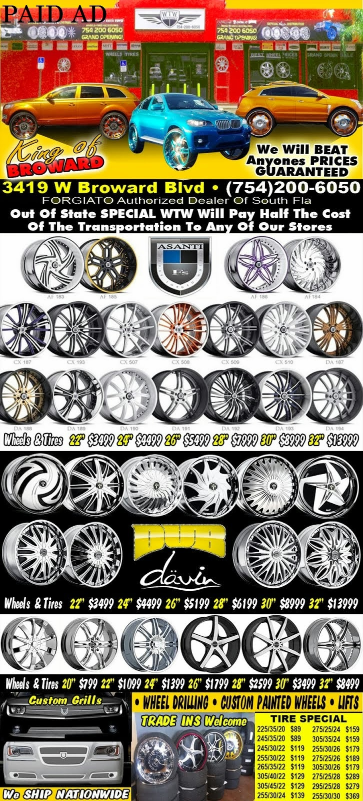 Sponsored AD by WTW Customs Broward--Sponsored AD by WTW Customs Broward-