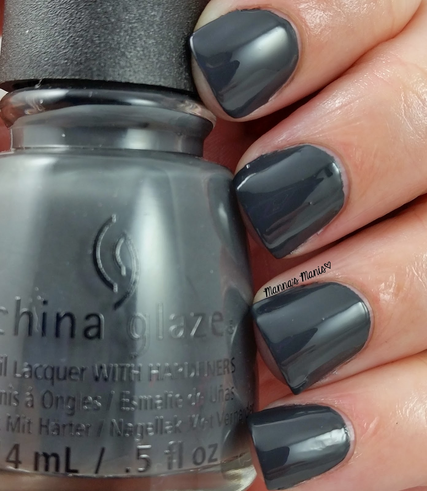 china glaze out like a light, a gray creme nail polish
