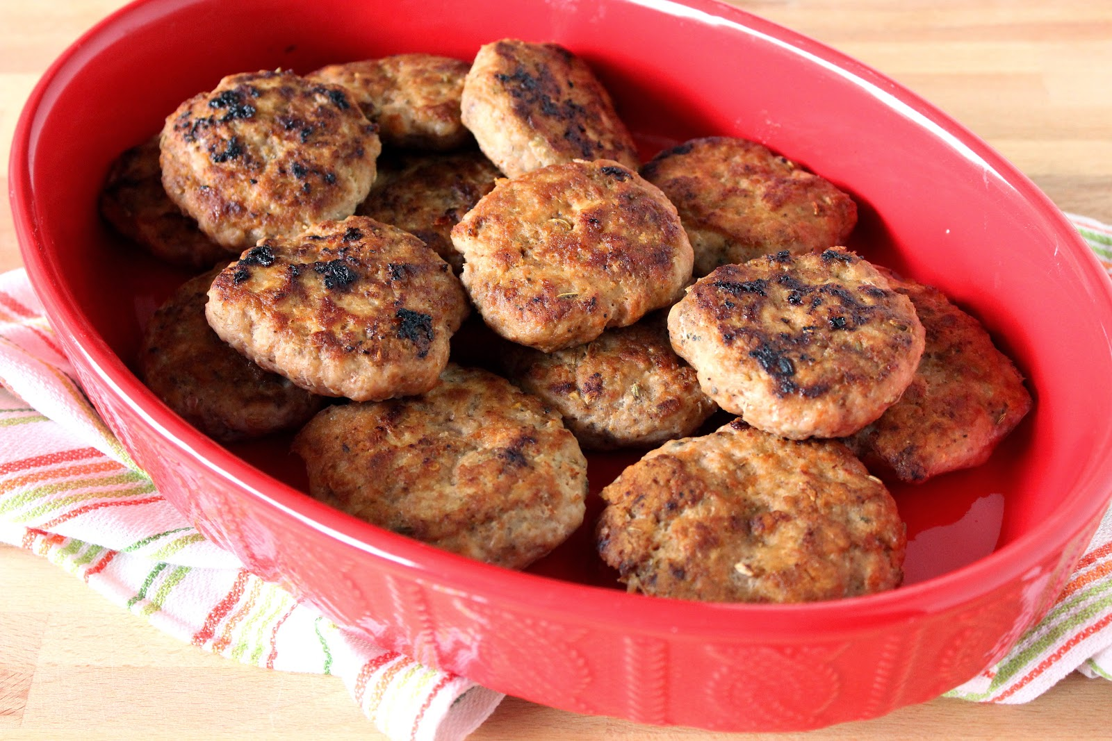 Homemade Turkey Breakfast Sausages are moist and loaded with flavor.