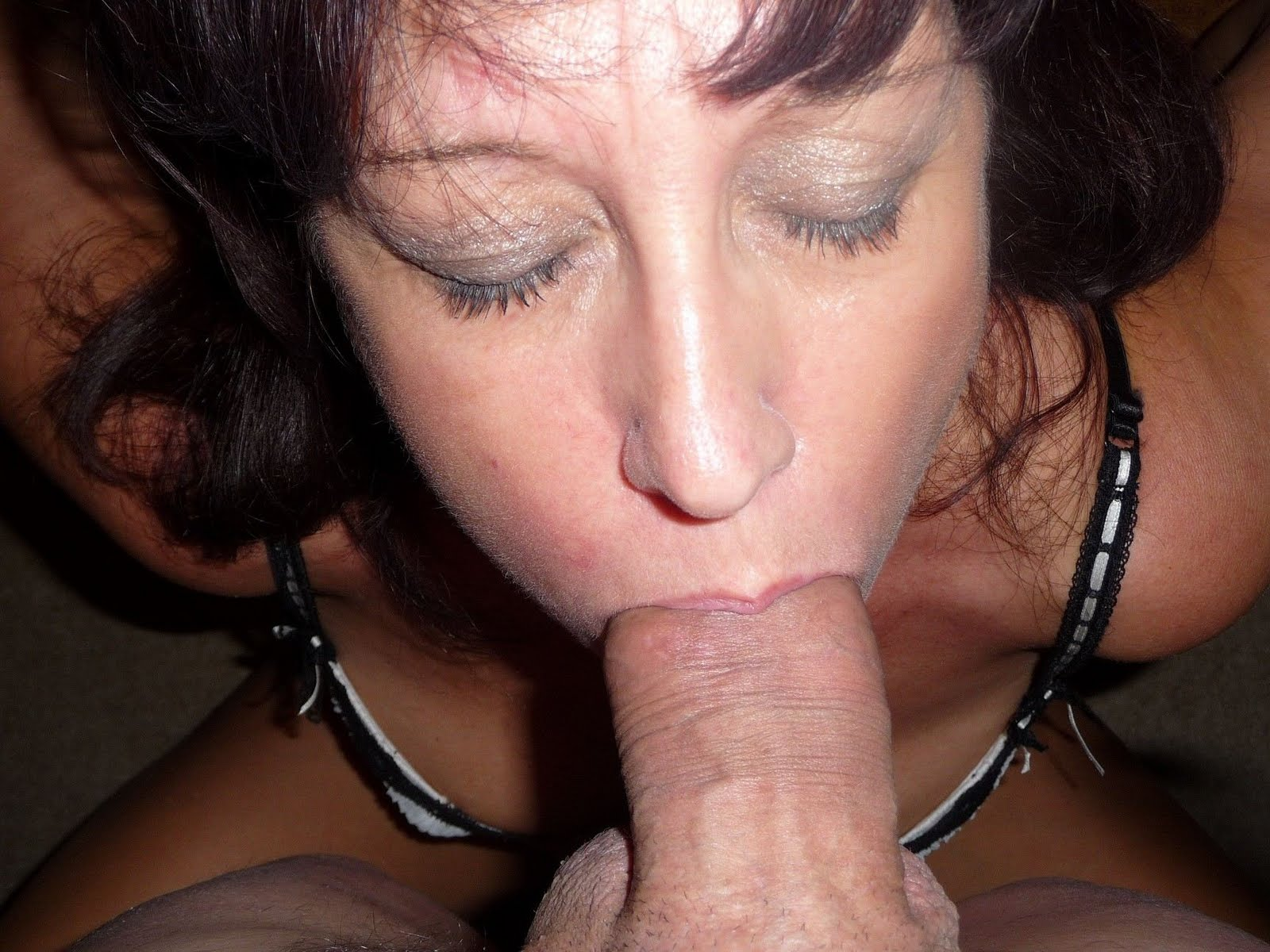 Milf Blowjob On Mature Man