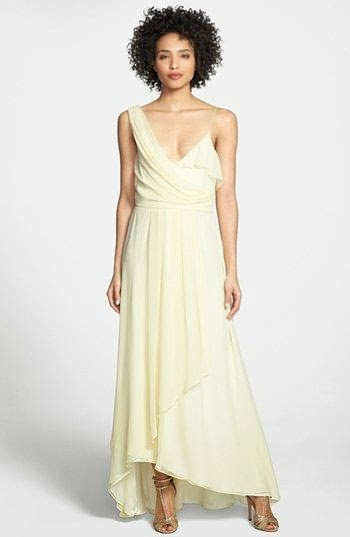 Light Yellow Grecian Wedding Dress - Affordable Wedding Dresses