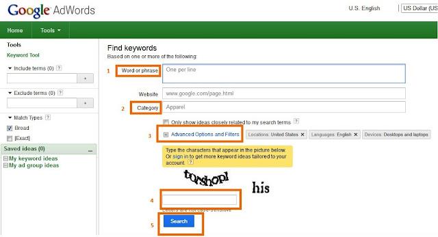 Cara Memilih Kata Kunci (keyword) yang tepat