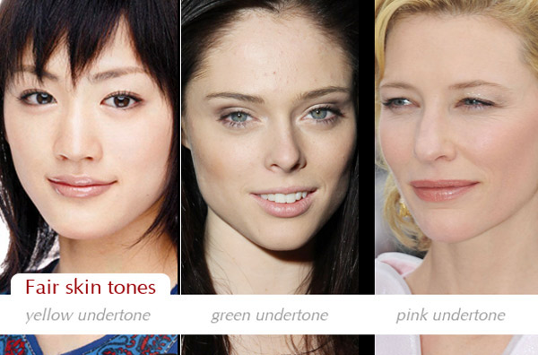 Make up charts: Determining your skin tone and undertone