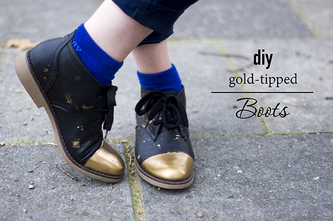 DIY Gold-tipped Boots {via fashionrolla.com}