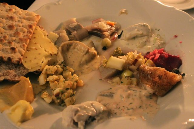 herring at a julbord, Sweden