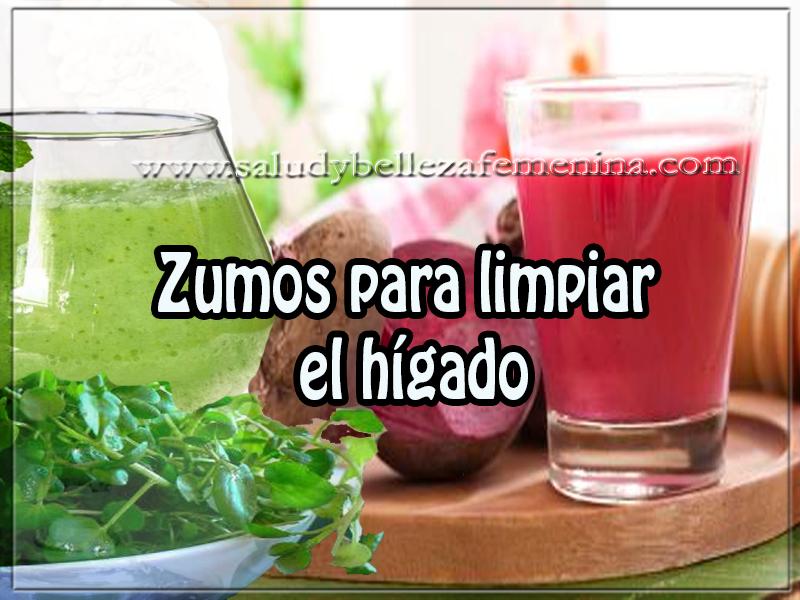 Bebidas saludables,  zumos para limpiar  el hígado