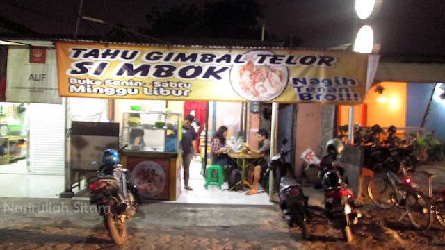 Sampai juga di Tahu Gimbal Telour Si Mbok
