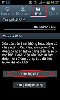 Hướng dẫn xóa Ram cho máy SamSung