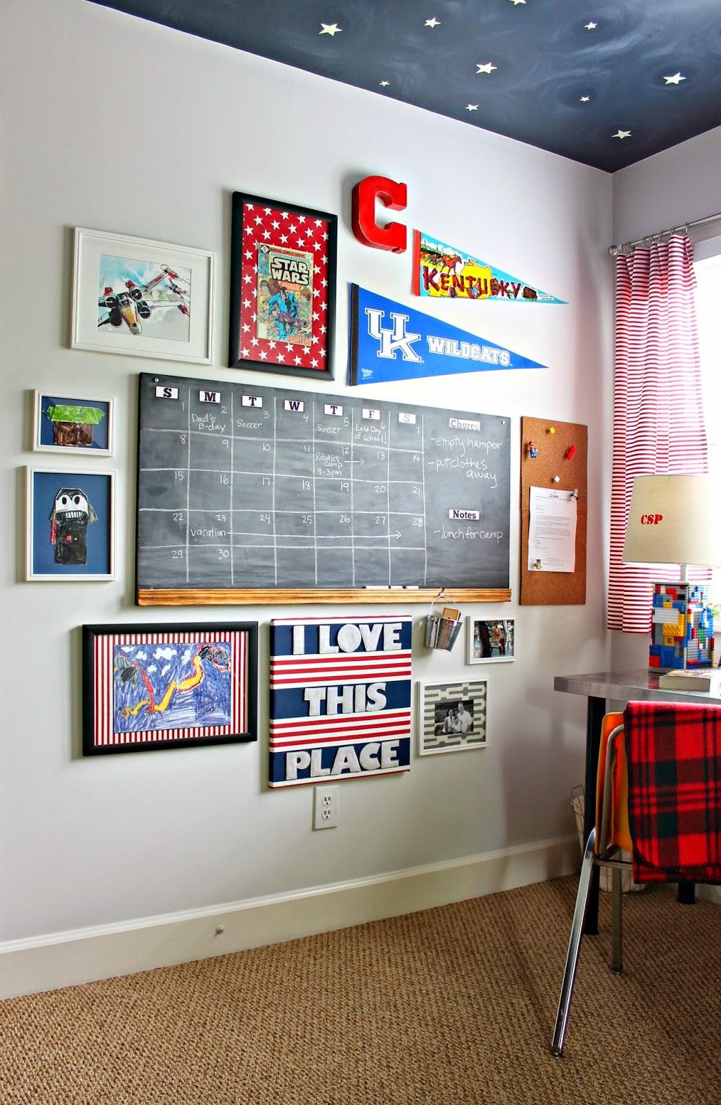 little boy's gallery wall
