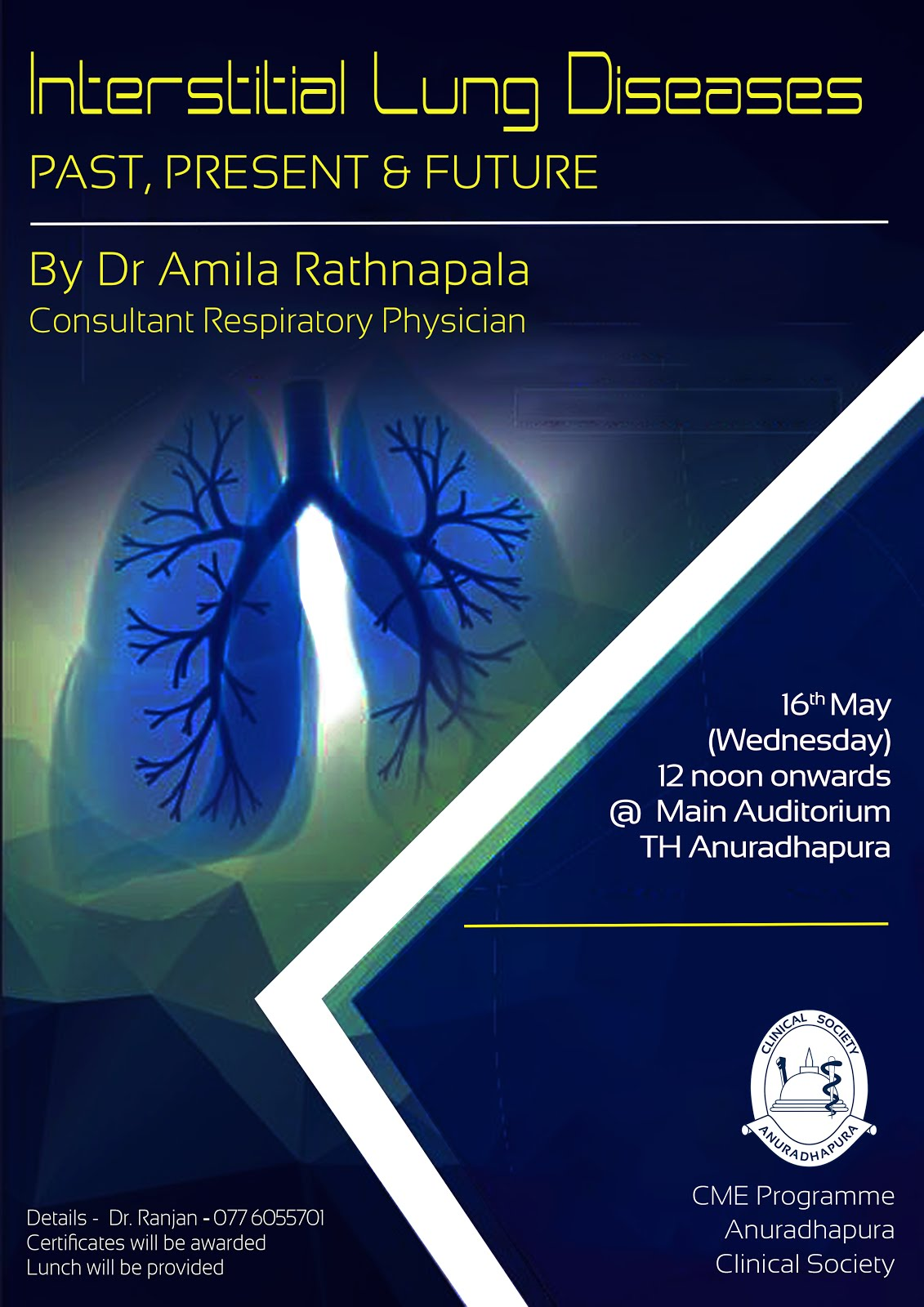 CME Lecture - Interstitial Lung Diseases - Past Present and Future