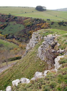 Limestone outcrop above Coombs Dale, Derbyshire