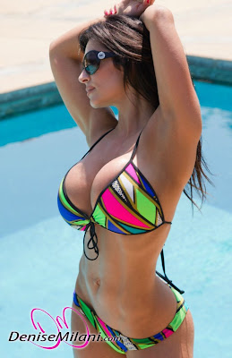 Denise Milani Colorful Bikini Wallpapers