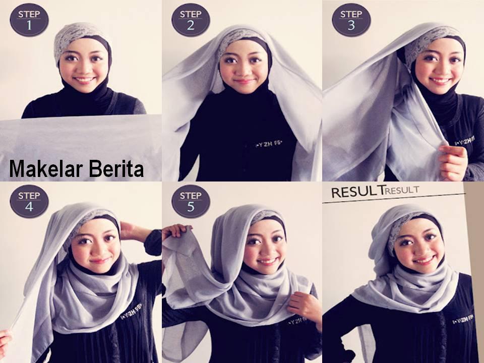 Tutorial foto video cara memakai jilbab modern style hijab terbaru ...