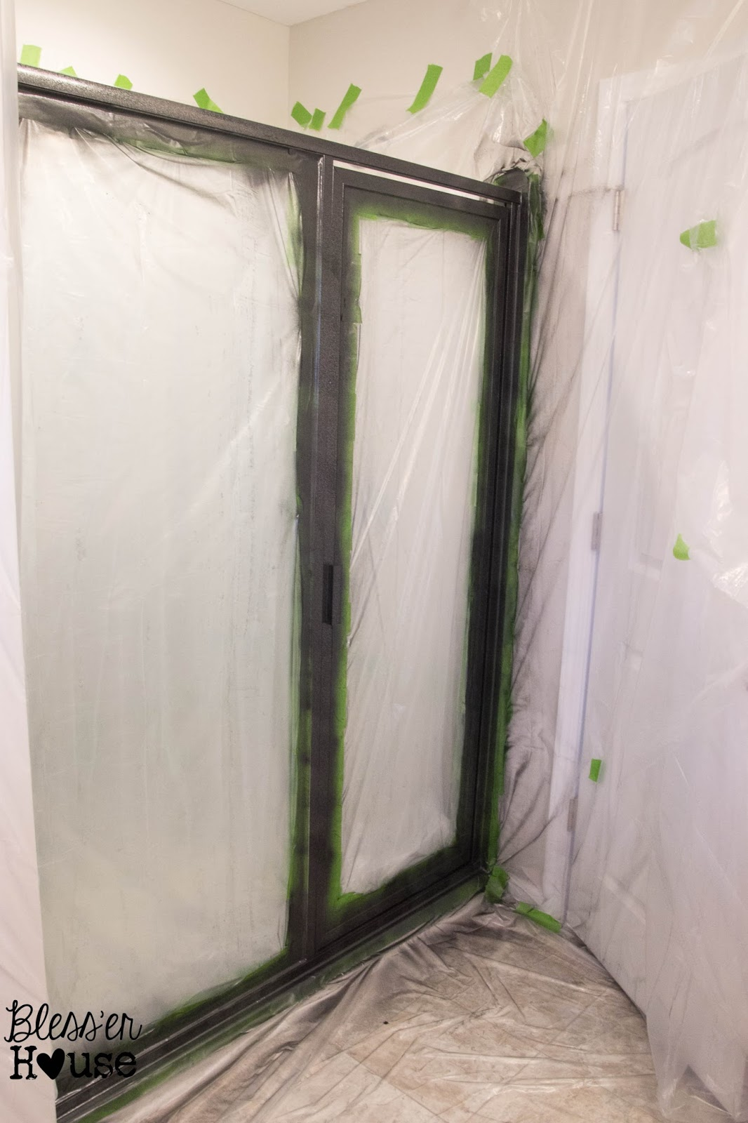 Superieur How NOT To Paint A Shower Door (And How To Fix Spray Paint Mistakes)