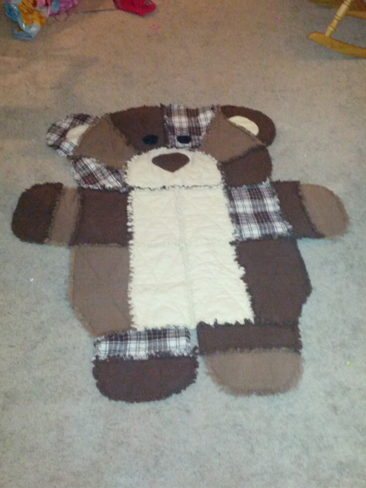 Bear Quilted Rag Blankets Madfoamingcats Fumbled Creations