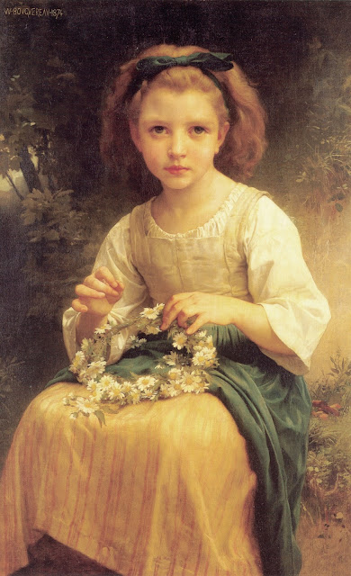girl painting,flowers, genre painting