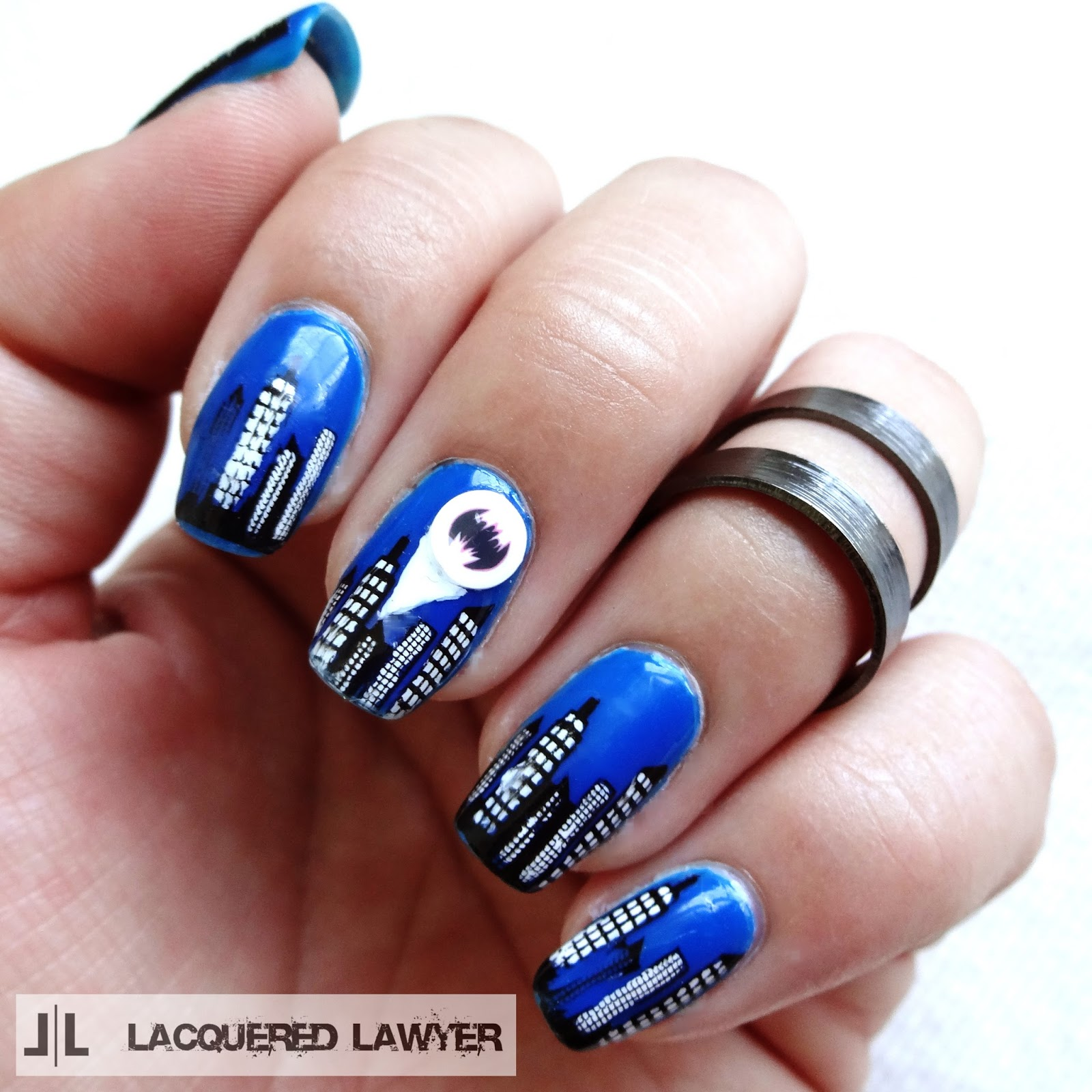 Gotham City Nail Art