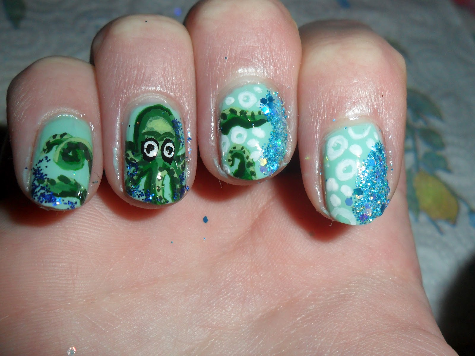 Sara fisk nail art octopussquid nails inspired by sonoma nail art octopussquid nails inspired by sonoma nail art prinsesfo Image collections