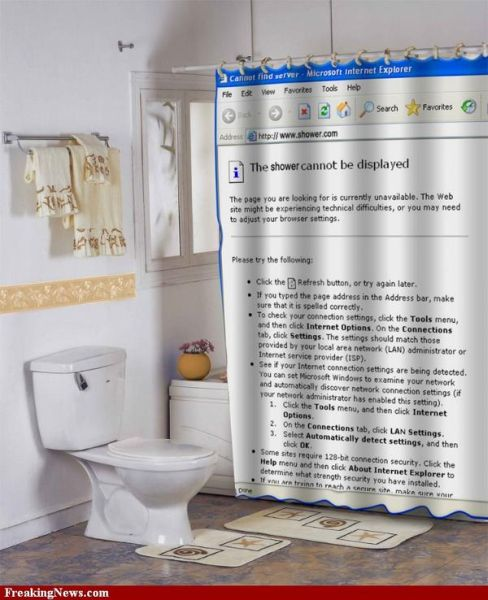 Funny shower curtains