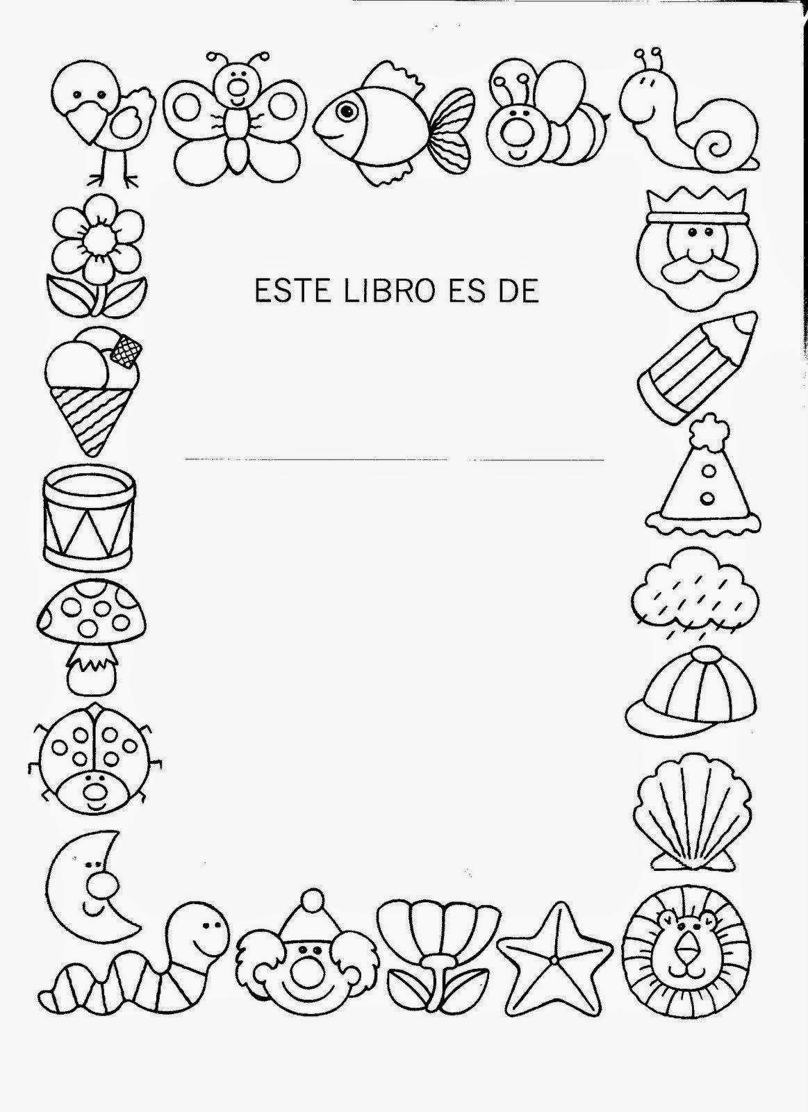 Encantador Libro De Colorear Cubierta Molde - Dibujos Para Colorear ...