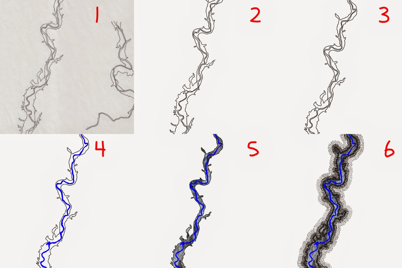 Steps in the map-making process