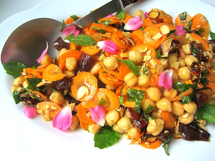 Morrocan Carrot And Chickpea Salad Recipe — Dishmaps
