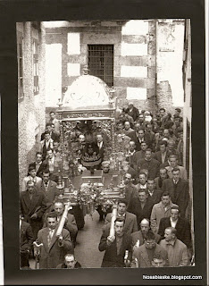 Bajada del Cristo en Candelario Salamanca