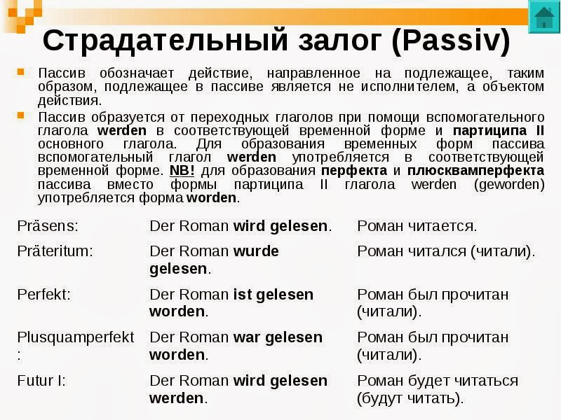 любители времена в немецком языке примеры ОГРН