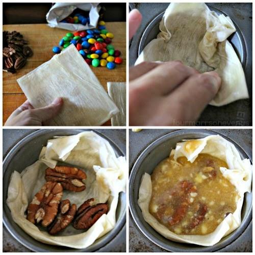 how to make pecan pie tarts #shop