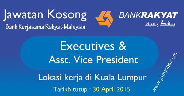 Jawatan Kosong Bank Kerjasama Rakyat Malaysia April 2015