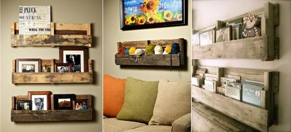 Creative diy shelves ideas idees and solutions - Etagere avec palette bois ...