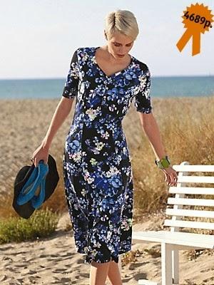Платье с цветочными мотивами Peter Hahn ретро стиль